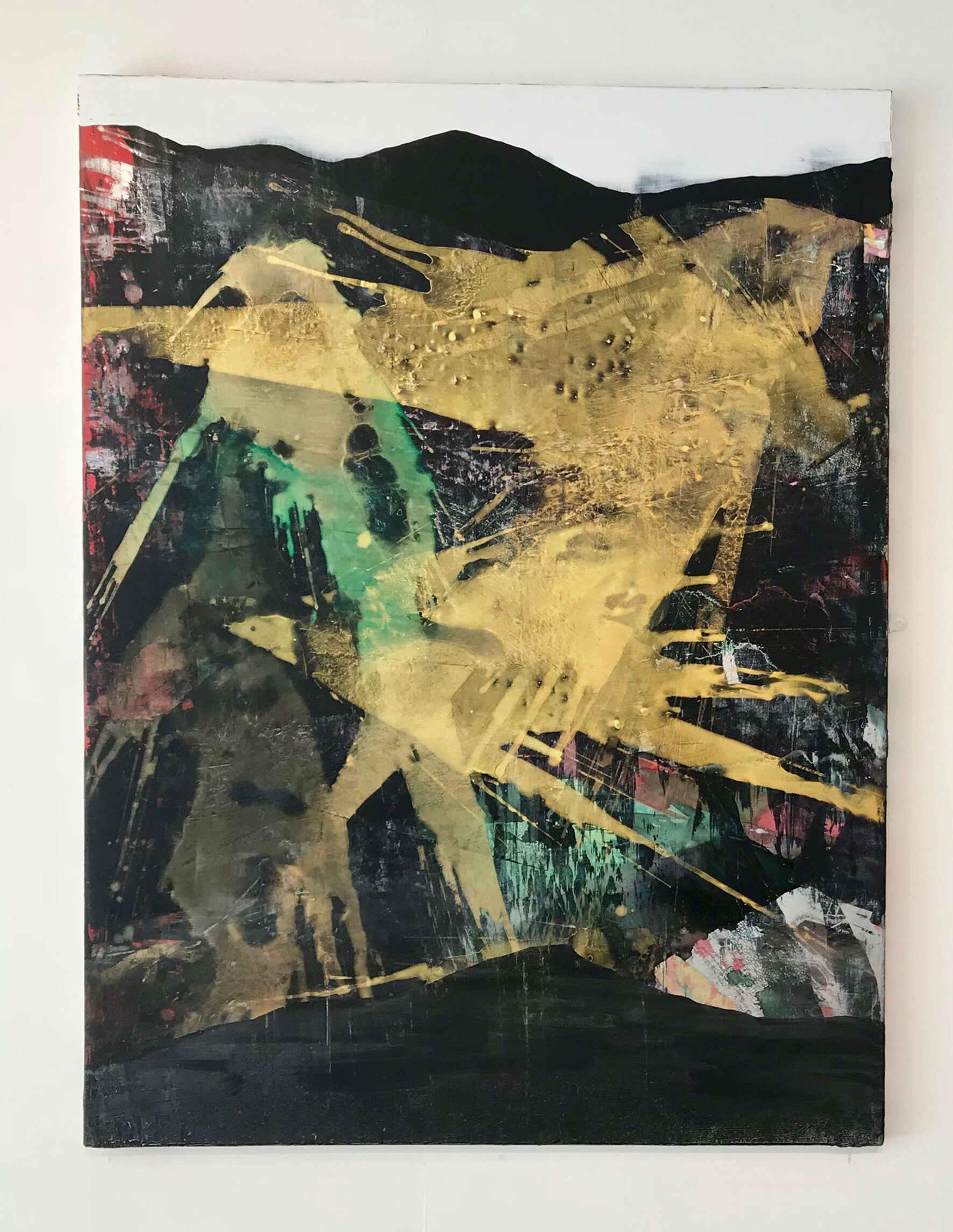 Bryn Diweddu (36 x 48 inches acrylic on mdf 2018)