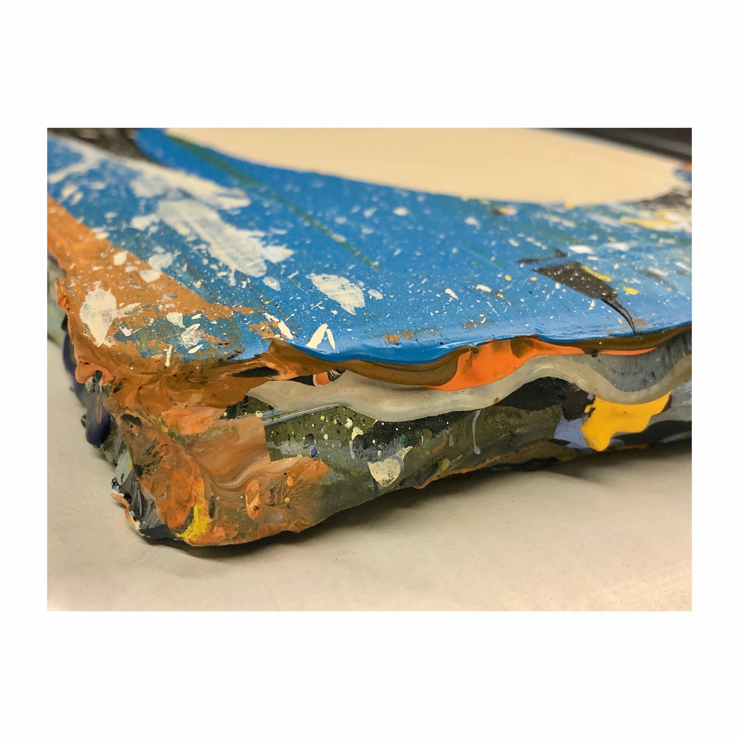 Cyfnod Braf  (8.5 x 8.5 inches acrylic on mdf 2019)